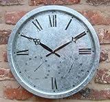 Verzinkte Uhr - 35cm