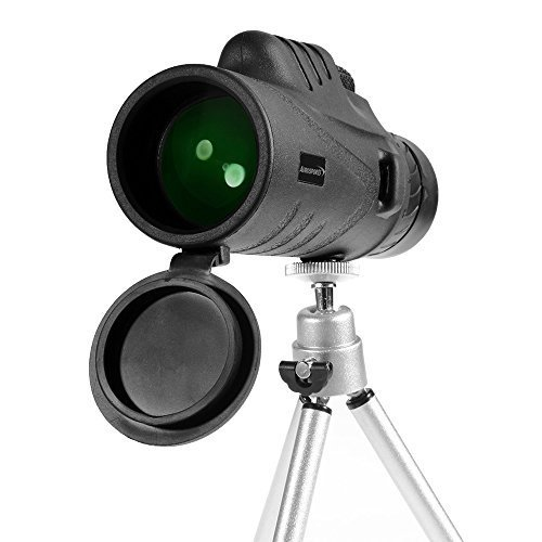 Read About Aurosports Compact 10X42 High-Powered Monocular Telescope Binoculars With Extension Tripo...