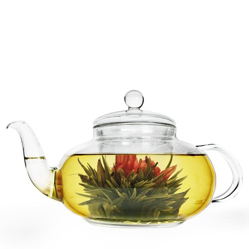 Primula 40-Oz. Daisy Glass Tea Pot, Clear