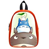 Generic Custom Cartoon Disney Totoros Printed Red School Bag Backpack Fit Short Trip PU Leather Medium
