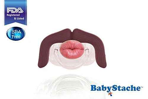 Babystache Kissable Mustache Pacifier For Your Little Cutie Pie - Kissable Professional - Made From Safe Bpa Free, Latex Free, High Quality Silicone, Babystache Is An Fda Listed Medical Device
