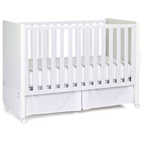 Babi Italia Scandi Convertible Drop Side Crib, White