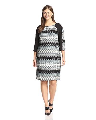 Sandra Darren Plus Women's Print Knit Dress