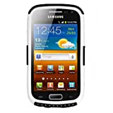 Amzer Silicon Hybrid Case Cover for Samsung Galaxy Ace 2 GT-I8160 - Black/White