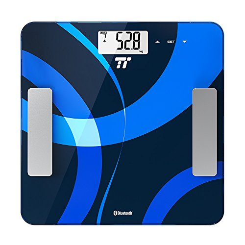 TaoTronics Smart Digital Scale Bathroom Scale, Measures Weight, BMI, Body Fat, Water, Muscle, Bone Mass, BMR, AMR, 12 User Memory Mode, Bluetooth 4.0, Smart App, FDA Certified