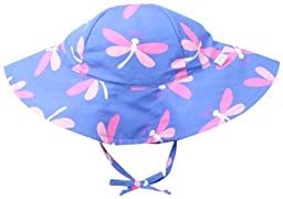 i play. Baby-Girls Infant Modern Brim Sun Protection Hat, Periwinkle Dragonfly, New Born/0-6 Months