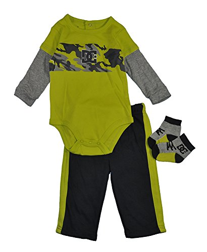 Dc Shoes Baby Boys Lime & Charcoal 3Pc Pant Set (6/9M) front-1052818