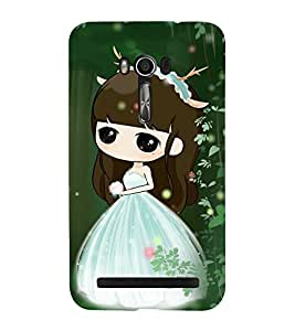 Fuson Premium Back Case Cover Cute baby with Flowers With pink Background Degined For Asus Zenfone Go::Asus Zenfone Go ZC500TG