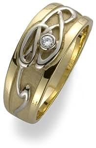 9ct Yellow Gold Ladies Wide Serenade Ring P
