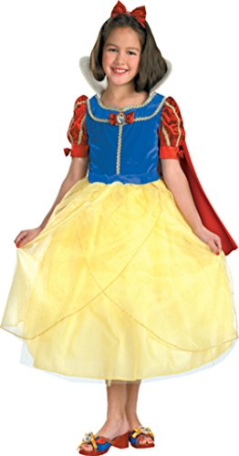 Girls Snow White Deluxe Kids Child Fancy Dress Party Halloween Costume