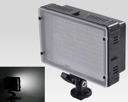 Cowboystudio Ultra High Power Dimmable 160 Led Video Light Panel And Np-Fm50 Rechargable Battery Pack With Cold Shoe Mount For Dslr And Camcorders