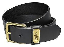 Polo Ralph Lauren Men's casual Leather Belt Black Sz 34