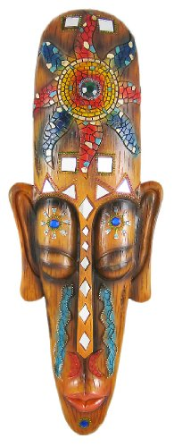 African Jungle Mask Wall Hanging Mosaic Look Africa