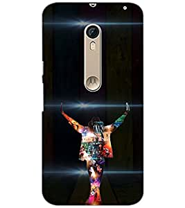 PrintDhaba DANCE MAN D-6662 Back Case Cover for MOTOROLA MOTO X STYLE (Multi-Coloured)