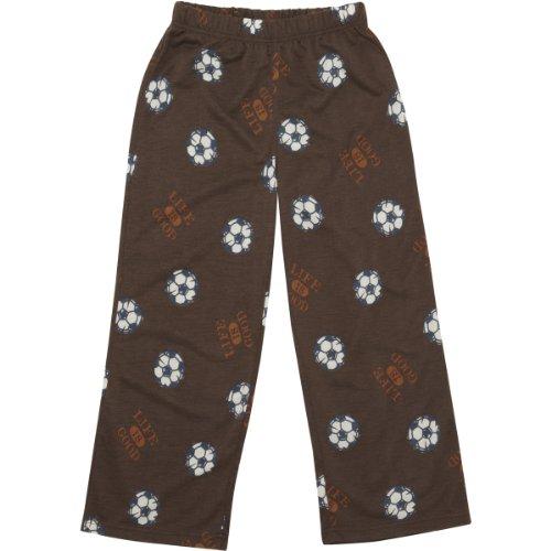 Life Is Good Boy'S Soccer Comfort Sleep Pants Brown S front-698871