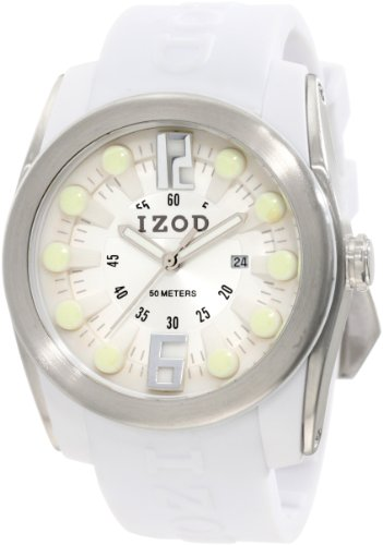 IZOD Men's IZS1/10 WHITE Sport Quartz 3 Hand Watch