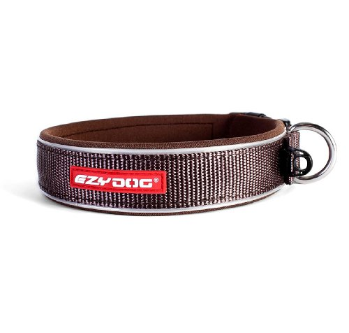EzyDog Neo collare di cane, Medium (39-44 cm), cioccolato