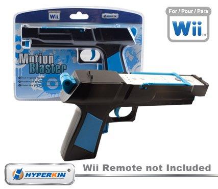Wii Motion Blaster Shooting and Reloading Black Gun w/Motion Plus Ready