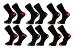 Mens Socks (12 Pack) Cotton Rich, Com...