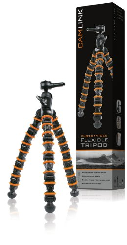Camlink 9 Sections Flexible Tripod for Camera
