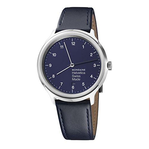 Mondaine HELVETICA Bleu Marine Regular Unisex Reloj de pulsera 40mm cuarzo mh1r2240ld