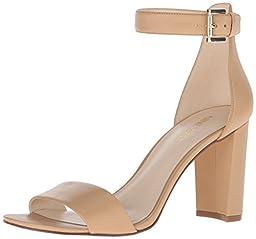 Nine West Women\'s Nora Leather Dress Sandal, Light Natural, 10.5 M US