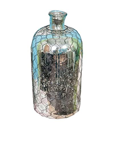 "Winward 18"" Mercury Glass Vase, Silver"