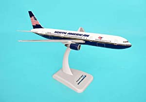 Aircraft scale model, Boeing 767-300ER North American Airlines, Scale 1:200 (with Stand & gear)