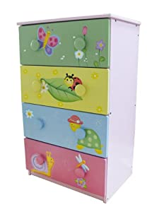 Teamson Design Kids Girls Magic Garden Room Collection 4 Drawer and 8 Handle Chest from Teamson Design Corp