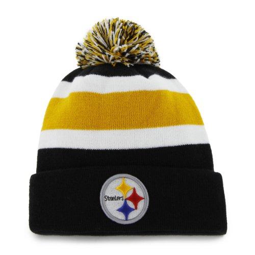 Nfl Pittsburgh Steelers Men'S Breakaway Knit Cap, One Size, Black
