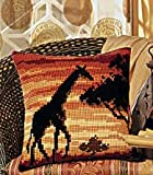 Vervaco Sunset Giraffe Cross Stitch Cushion Multi Colour