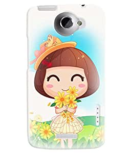 TOUCHNER (TN) Lovely Girl Back Case Cover for HTC One X::HTC One XT::HTC 1X