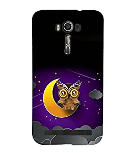 printtech Owl Moon Sky Back Case Cover for Asus Zenfone 2 Laser ZE601KL