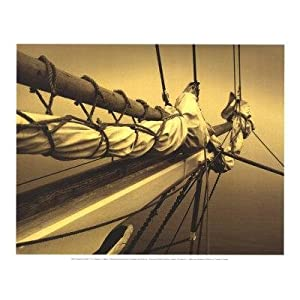 2 Nautical Sailing Art Prints Bow Hull Ship Posters Sail Decor Sepia