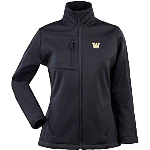 Antigua Ladies Washington Huskies Traverse Fleece Back Full-Zip Jacket by Antigua