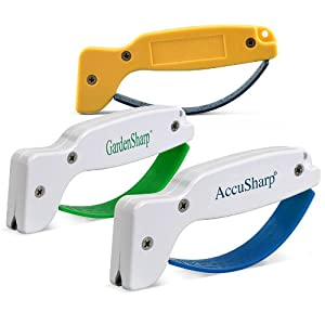 AccuSharp 015C Knife, Garden Tool, and Scissor Sharpener Multipack