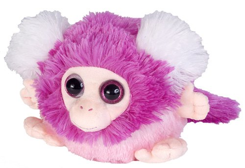 Wild Republic Fuzzball Pink Monkey Plush