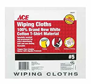 Ace Wiping Cloths 100% Cotton Boxed # 5 Box White
