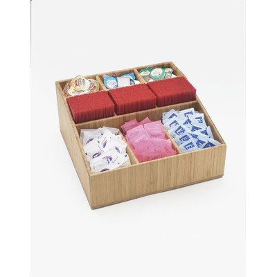 Cal-Mil 1714 Bamboo Condiment And Straw Organizer