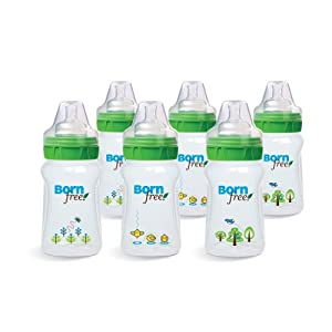 Born Free 9 oz. BPA-Free Decorated Bottle with ActiveFlow Venting Technology, 6-Pack