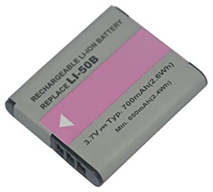 PowerSmart® 3.7V 700mAh Li-ion Battery for PENTAX Optio I-10, Optio RZ10, Optio RZ10 BLACK, Optio RZ10 LIME, Optio RZ10 VIOLET, Optio RZ10 WHITE, Optio RZ18, Optio WG-1 GPS, Optio WG1, X70, Optio WG-2, Optio WG-2 GPS Digital Camera, Compatible Part Numbers: D-Li92