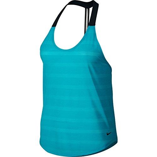 Nike Women's Elastika Elevate Tank Top (Omega Blue, X-Large)