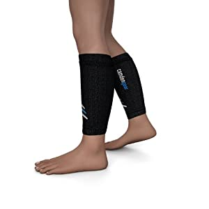 Calf Compression Sleeve for Leg / Shin Support - Athletic Socks for Lower Leg and Shin Guard - Replace Leggings, Tights and Socks to Recover From Shin Splint and Pains Incurred From Running or Playing Basketball - X Large