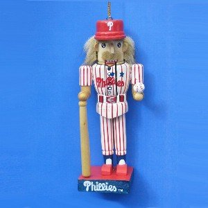 Kurt Adler Philadelphia Baseball Nutcracker  Ornament