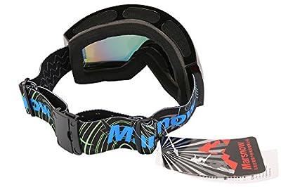 Marsnow Mens Polarized OTG Spherical Lens Ski Goggles Black Frame