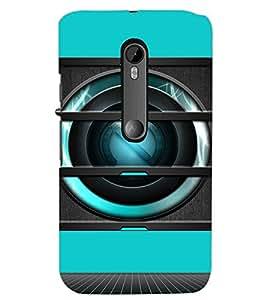PrintDhaba Speaker D-3493 Back Case Cover for MOTOROLA MOTO G3 (Multi-Coloured)