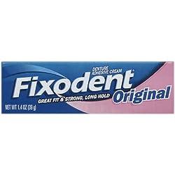Fixodent Denture Adhesive Cream, Original - 1.4 Oz