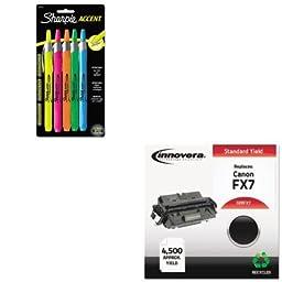 KITIVRFX7SAN28175PP - Value Kit - Innovera FX7 Compatible (IVRFX7) and Sharpie Retractable Highlighters (SAN28175PP)