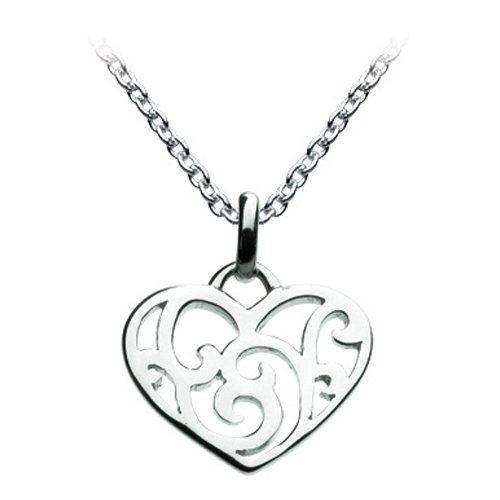 Kit Heath Swirled Sterling Silver Heart Necklace