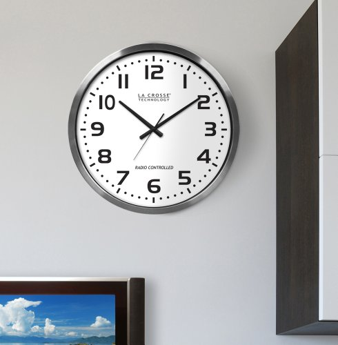 La crosse technology 16 inch extra large atomic digital wall clock compare lowest prices - Extra large digital wall clock ...